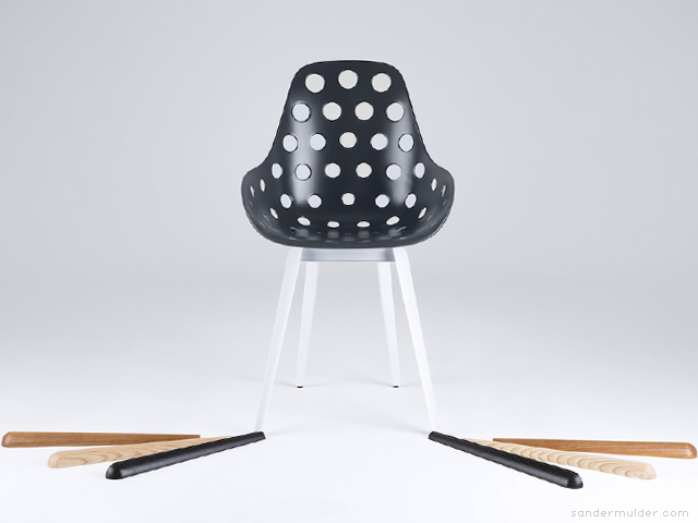 Slice Dimple chair by Sander Mulder